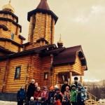 Мурманские школьники у Свято-Андреевского Морского кафедрального Собора